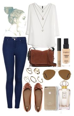 """Untitled #2173"" by natalyasidunova ❤ liked on Polyvore featuring Topshop, MANGO, H&M, ASOS, Coach, Oscar de la Renta, Ray-Ban, NARS Cosmetics and Smashbox"