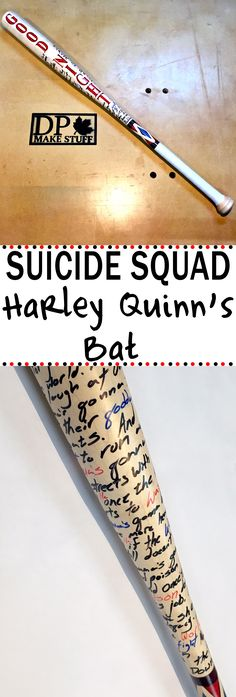 Make Harley Quinn's bat from the recent movie Suicide Squad. It's just what you need to finish off your costume / cosplay!