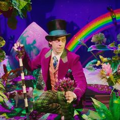 Christian Borle as Willy Wonka on Broadway. I love this picture! :-)