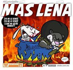 """""""Más leña"""" #ElCartonDelDia #Zheko_grafico #DisfrutenloConLeche #MonerosFutboleros"""