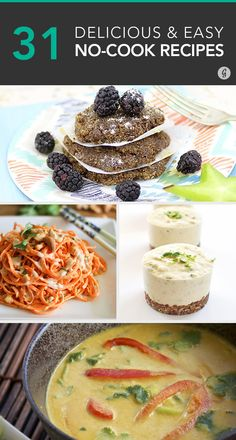No need to turn on the oven or stove for a great meal #nocook #recipes #rawfoods