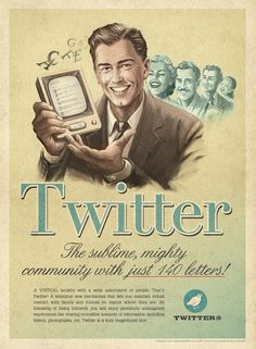 Art Symphony: Social media in vintage posters...