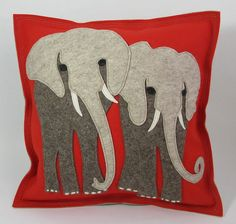Love this from Holly Johnson -- Elephant Walk Throw Pillow by CheekyMonkeyHome…