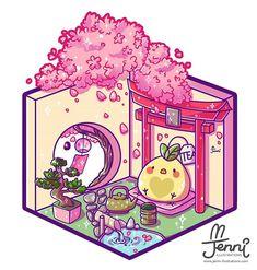 Kawaii Doodles, Cute Kawaii Drawings, Cute Animal Drawings, Illustration Mignonne, Cute Illustration, Garden Illustration, Griffonnages Kawaii, Kawaii Anime, Chibi Disney