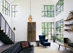 Industriële ramen met zwart frame #love #window