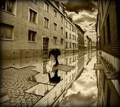 Image by Erik Johansson - Swedish photographer - brilliant Photoshop 3d Street Art, Surreal Photos, Surreal Art, Photomontage, Erik Johansson Photography, Cool Photoshop, Photoshop Software, Creative Photos, Optical Illusions