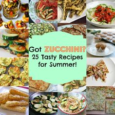 25 Zucchini Recipes for Summer!!! IF there is ever any excess vegetable in the garden it is zucchini! Why? Zucchini is legendary for being somewhat easy to grow and it produces at a rapid rate. In fact, once I left a 6-inch zucchini on the plant overnight and came back to see it was already 11-inches less than twelve hours later.