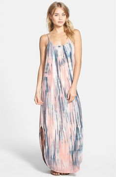 Free shipping and returns on Gypsy 05 Tie Dye Bar Back Maxi Dress at Nordstrom.com. A soft, smoky tie dye patterns this buttery-soft maxi dress styled with a gently gathered front neckline and a breathtaking bar-back design.