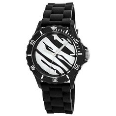 "Breda Women's 2196-Black ""Maya"" Zebra Sport Jelly Watch Breda. $24.00. Zebra print dial with silver hour markers. Black unidirectional bezel with white minute markers. Black jelly adjustable strap with silver buckle. Water-resistant - not recommended to take into deep water or shower. Highest standard Japanese parts Quartz movement"