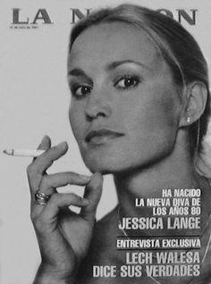 Jessica Lange on the cover on La Nacion (1981) I freaking LOVE her!