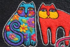 Создание рисунка на валяном клатче по мотивам творчества Лорел Берч – Ярмарка Мастеров Wool Felt, Cute Cats, Arts And Crafts, Creatures, Embroidery, Zippers, Projects, Cards, Tutorial Crochet