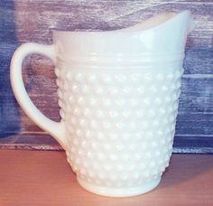 Large Vintage Fenton Milk Glass Hobnail by RollingMeadeDesigns, $28.00