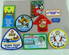 Lot of 8 Boy Scout Badges And Patches 2003 to 2008 Events Challenges Canada Boy Scout Badges, Beaver Scouts, Boy Scout Patches, Spring Challenge, Wood Badge, Pinewood Derby, Winter Camping, Cub Scouts, Sleepover