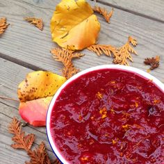 Slow Cooker Cranberry Sauce Recipe - Healthy, easy and seasonal; the perfect additional side dish for Thanksgiving dinner! - The Lemon Bowl Crock Pot Slow Cooker, Slow Cooker Recipes, Cooking Recipes, Healthy Recipes, Crockpot Dishes, Easy Cooking, Healthy Desserts, Cooking Ideas, Vegetarian Recipes