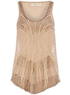 Dorothy Perkins Nude beaded embellished vest