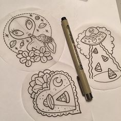 Alien Tattoo Drawings