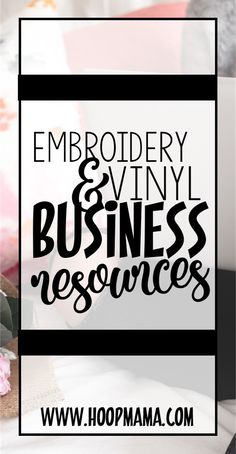An ever growing recommendation list for embroidery and vinyl businesses!