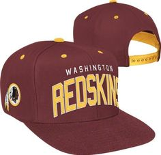 Washington Redskins Team Arch Snapback Adjustable Hat by NFL. $14.99. Officially licensed. Adjustable back. Six panel construction with eyelets. Quality team logo and colors. Hey fans--if you are looking for a simple yet timeless way to display your Washington Redskins pride, then try this NFL Brand hat on for size. With an adjustable back, bold team colors and quality construction, this Washington Redskins Team Arch Snapback Adjustable Hat is the perfect addition to your gr...