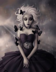 The Art of Enamorte Dark Fantasy Art, Dark Gothic Art, Fantasy Witch, Dark Beauty, Gothic Beauty, Gothic Kunst, Art Mignon, Beautiful Dark Art, Modelos Fashion