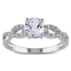 @Overstock - Miadora 10k White Gold White Sapphire and 1/10ct TDW Diamond Ring (G-H, I1-I2) - White sapphire and white diamond engagement ring10-karat white gold jewelryClick here for ring sizing guide  http://www.overstock.com/Jewelry-Watches/Miadora-10k-White-Gold-White-Sapphire-and-1-10ct-TDW-Diamond-Ring-G-H-I1-I2/8600585/product.html?CID=214117 COP              619773.15