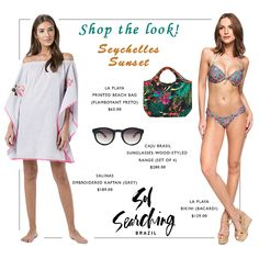 Shop these beach chic vacation looks Singapore Fashion, Beach Look, Swimwear Fashion, Get The Look, Kaftan, Searching, Cover Up, Vacation, Chic