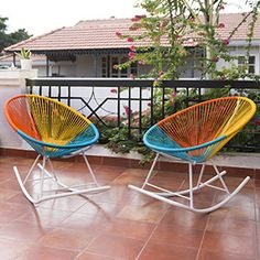 Ananse Patio Rocking Chairs - Set of 2