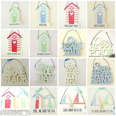 Wall plaque hanging signs beach hut #nautical #seaside #theme hook peg letters gi,  View more on the LINK: 	http://www.zeppy.io/product/gb/2/231928174251/