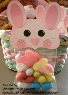 This darling treat bag was made with Cricut and the Art Philosophy cartridge; perfect for a special Easter treat!