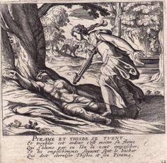 Gravure-XVIIIe-Pyrame-et-Thisbe-Pyramus-and-Thisbe