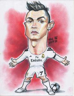CRISTIANO RONALDO #Caricature #futbol #CR7 #RealMadrid