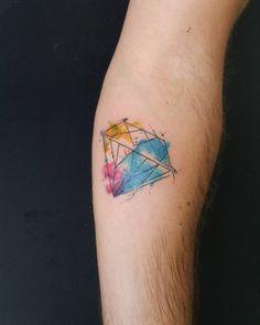 watercolor diamond tattoo designs