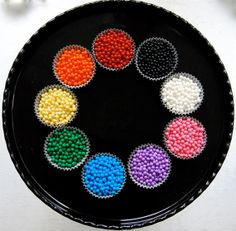 """SIZE: 4mmYou will get 2 ounces per orderJust a few pearls on each cupcake upgrades your party a few notches! (Shown in rainbow colors, and """"Oyster Pearl"""" )For examples of them on cupcakes please visit http://www.flickr.com/photos/thecupcakesocial/"""