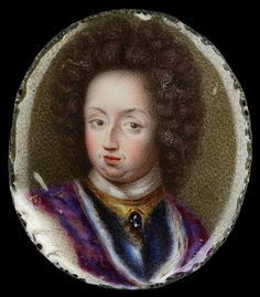 Arte de la lona Impresiones Giclee Estirada Enmarcada Pintura Al Óleo Erik Utterhielm Miniatura Retrato De Carlos Xi Rey De Suecia 1660-1697
