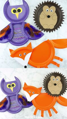 If you are looking to get creative with your kids this fall, try making one of these three Fall Paper Plate Animal Crafts. Their versatility makes paper plate crafts a simple go-to idea for crafting with kids at home. Fall Paper Crafts, Paper Plate Crafts For Kids, Easy Fall Crafts, Animal Crafts For Kids, Crafts For Teens To Make, Fall Crafts For Kids, Art For Kids, Kids Crafts, Fun Craft