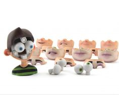 The headset system designed by Protocube to allow the animators to optimize the expression of the puppet animation