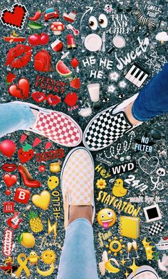 """A VSCO girl is someone whose lifestyle matches the aesthetic appeals of the VSCO app. Merriam-Webster specifies the """"VSCO woman"""" as . Well, really, . Emoji Tumblr, Wallpeper Tumblr, Cute Vans, Cute Shoes, Me Too Shoes, Emoji Pictures, Bff Pictures, Emoji Pics, Mode Outfits"""