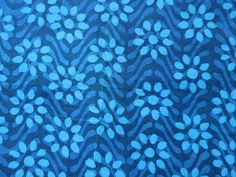 Floral Hand Block  Print Indian Cotton Fabric by theDelhiStore