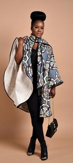 Rahyma Fifty-Grey Poncho. Luxury has arrived with this comfortable Unisex African print Poncho, fully lined with cashmere to   keep you warm.  Wear it over a coat or a sweater   Its edges are Trimmed with Pleather, A perfect gift for Valentine. Ankara   Dutch wax   Kente   Kitenge   Dashiki   African print dress   African fashion   African women dresses   African prints   Nigerian style   Ghanaian fashion   Senegal fashion   Kenya fashion   Nigerian fashion (affiliate)