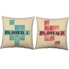 The couple that plays together stays together. These awesome pillows are perfect for any gaming couple! Keep them for yourself or give them as a truly personal gift. FEATURES - Prices are for a set of