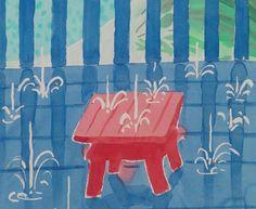 SATURDAYS II - David Hockney. Watercolour