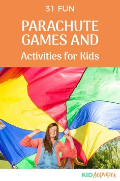 A collection of fun parachute games and activities. These ideas are great for gym class or anywhere there's a parachute and a group of kids. #KidActivities #KidGames #ActivitiesForKids #FunForKids #IdeasForKids Parachute Games For Kids, Gym Games For Kids, Physical Activities For Kids, Kids Gym, Youth Games, Pe Games, Learning Games For Kids, Outdoor Games For Kids, Preschool Games