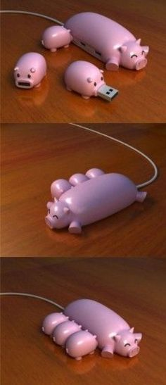 Pig portable charger I NEED THIS