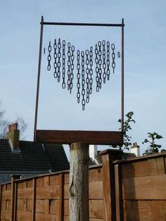 DIY Wind Chimes - easy to make with found objects, I kid you not