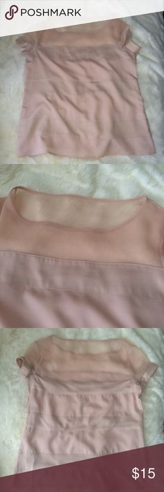 """New York & Company stretch pink sheer top M New York & Company stretch pink sheer top M.  Pit to Pit 19 1/2"""" length 24"""" New York & Company Tops Blouses"""