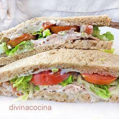 Sandwich de pollo < Divina Cocina
