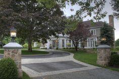 Driveway Entry Hedges Landscaping, Landscape Design, Sidewalk, Mansions, House Styles, Home Decor, Decoration Home, Manor Houses, Room Decor