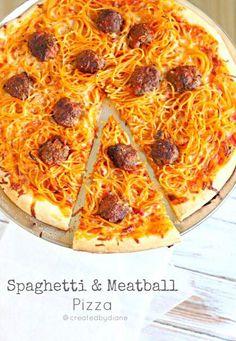 レシピとお料理がひらめくSnapDish - 12件のもぐもぐ - Can't Wait to Make this Spaghetti Meatball #Pizza #Meat/Poultry #Pasta #Dinner #Lunch ❤ for My Lil Foodie Princess by Alisha GodsglamGirl Matthews
