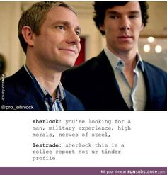 I didn't ship Johnlock when I watched this show but now I ship them because of this Fandom :)
