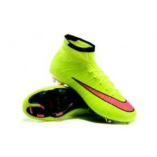 new concept 891ae 9c655 Nike Mercurial Superfly Boys  Grade School FG - Fluorescein Yellow Pink  cheap football shoes