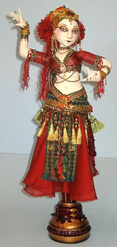 Belly Dancer Candlestick doll
